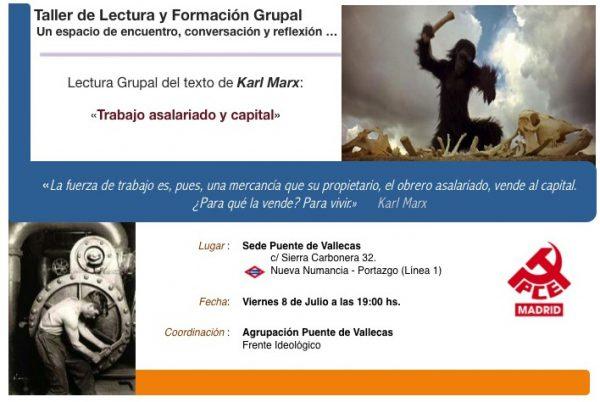 """Lectura Grupal del texto de Karl Marx: """"Trabajo asalariado y capital"""""""