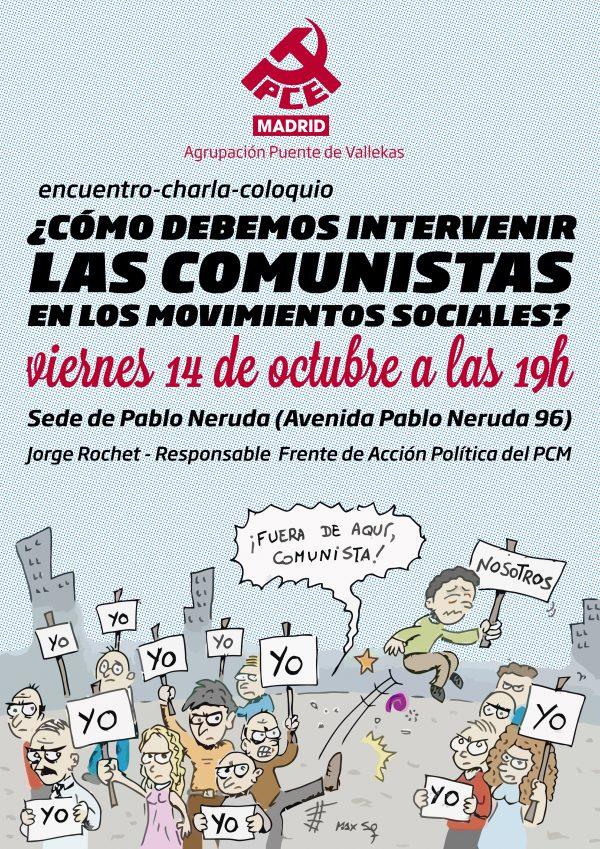 """Coloquio """"¿Cómo debemos intervenir las comunistas en los movimientos sociales?"""""""