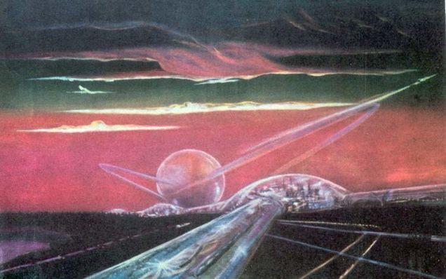 Una ciudad y una autopista, por Sergei Gavrish