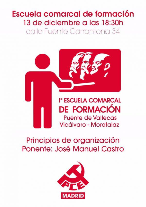 """Escuela comarcal de formación: """"Principios de organización"""""""