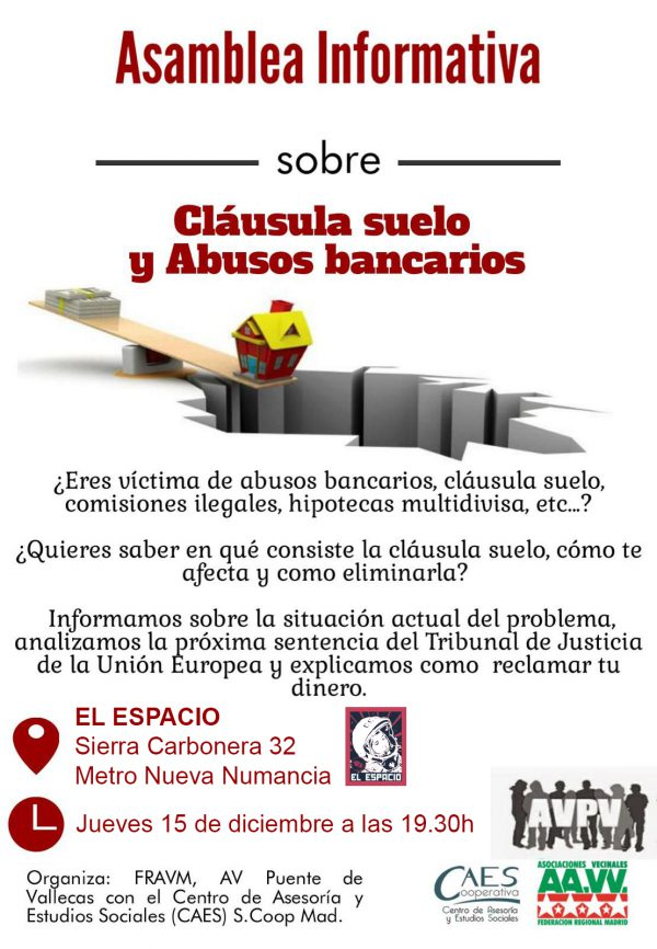 Asamblea informativa sobre cláusulas suelo y abusos bancarios