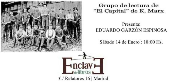 """Lectura de """"El Capital"""" de Karl Marx con Eduardo Garzón"""