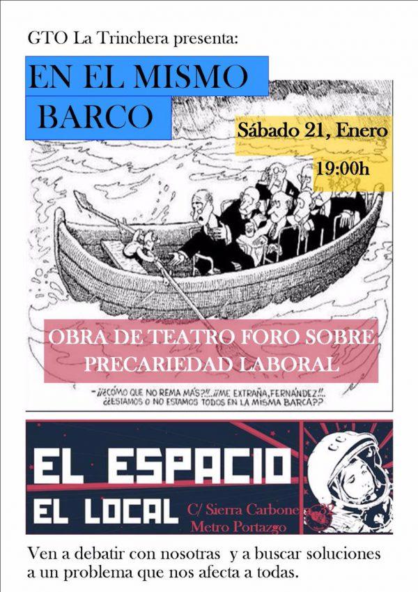 """Obra de teatro """"En el mismo barco"""""""