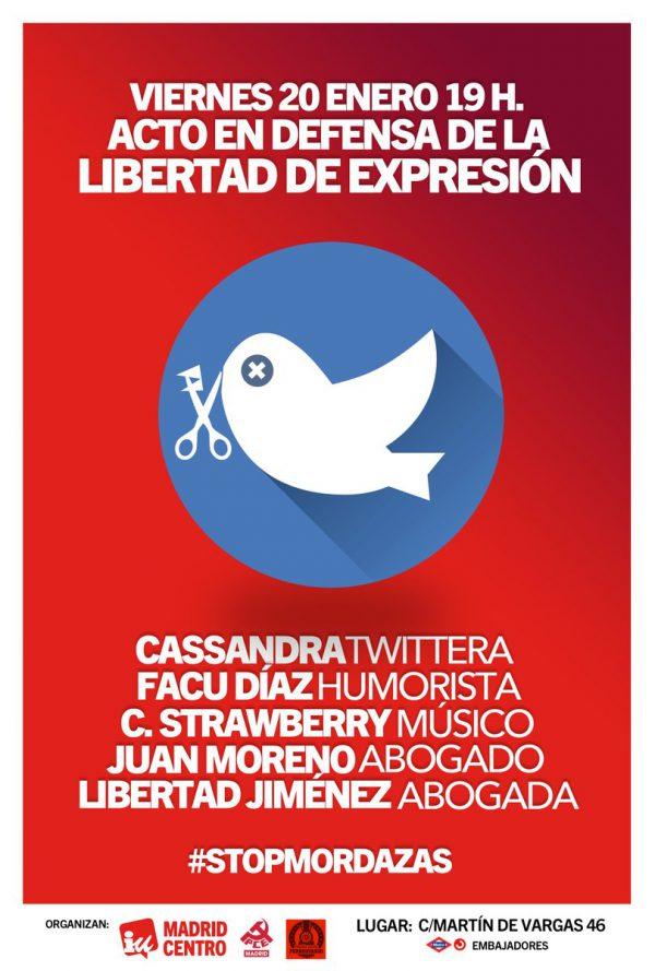 Acto en defensa de la libertad de expresión