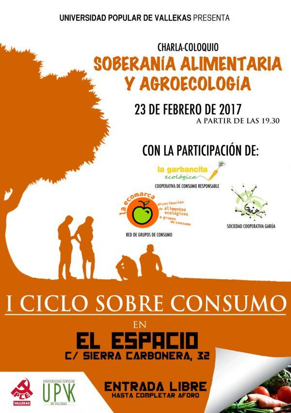 """Charla-coloquio """"Soberanía alimentaria y agroecología"""""""