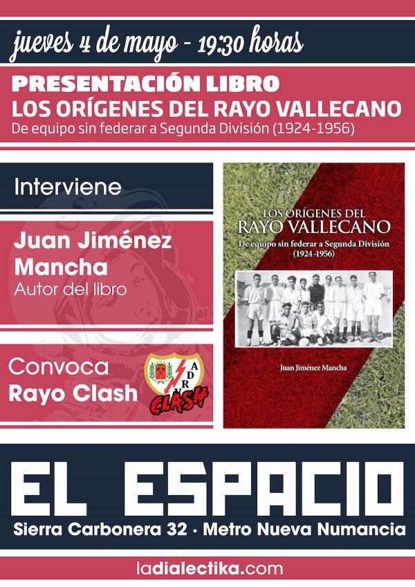 """Presentación del libro """"Los orígenes del Rayo Vallecano"""" de Juan Jiménez Mancha"""