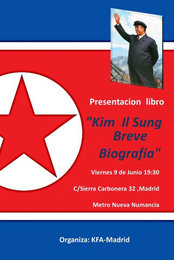 "Presentación libro ""Kim Il Sung. Breve biografía"""