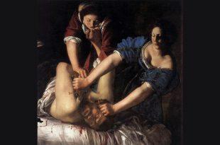 Judit decapitando a Holofernes 1612 . Artemisia Gentileschi. Pintora feminista. Fue violada en su juventud y dedicó toda su obra en plasmar su rabia interior.