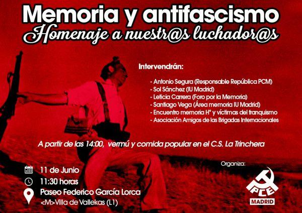 Memoria y antifascismo: Homenaje a nuestr@s luchador@s