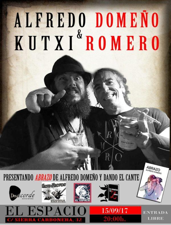 """Presentación del poemario """"Abrazos"""" de Alfredo Domeño. Con Música en directo de Kutxi Romero"""