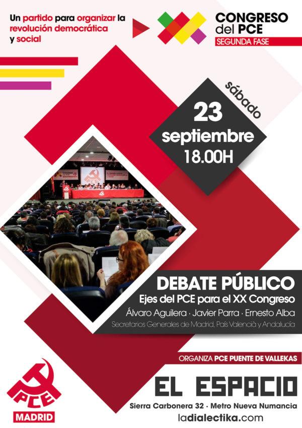 """Debate público """"Ejes del PCE para el XX Congreso"""""""