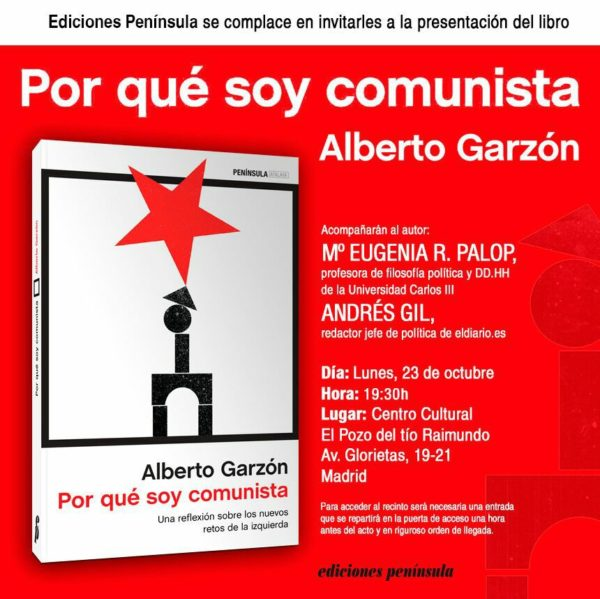 "Presentación en Vallekas del libro ""por qué soy comunista"" de Alberto Garzón"