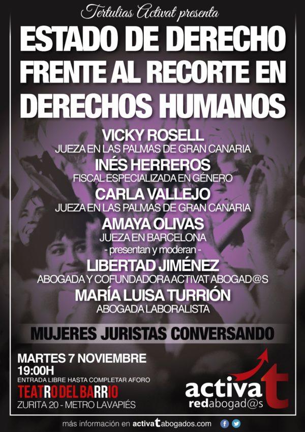 """Tertulia """"Estado de Derecho frente al recorte en Derechos Humanos"""""""