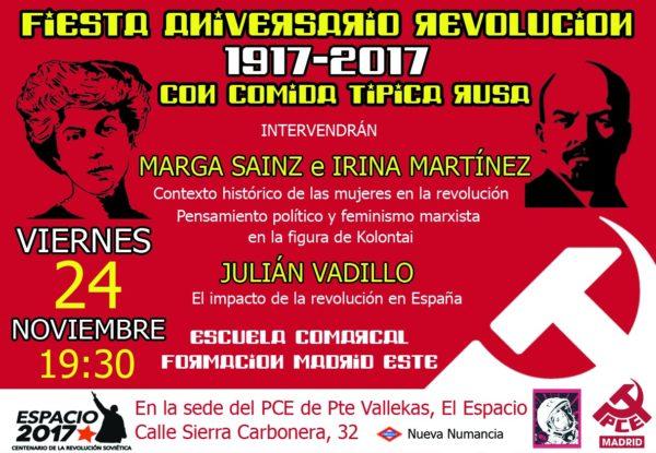 Fiesta aniversario revolución de octubre