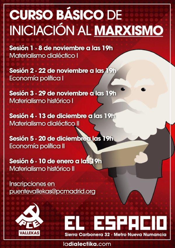 Finaliza el I Curso Básico sobre Marxismo en Puente de Vallekas