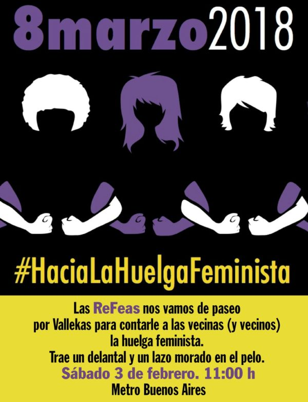 Manifestación en Vallekas #HaciaLaHuelgaFeminista