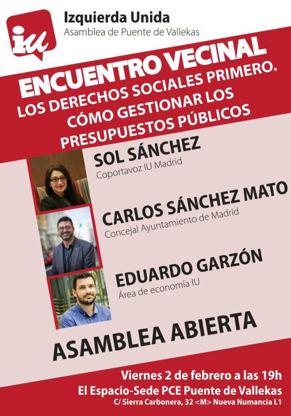 """Encuentro vecinal """"los derechos sociales primero"""""""