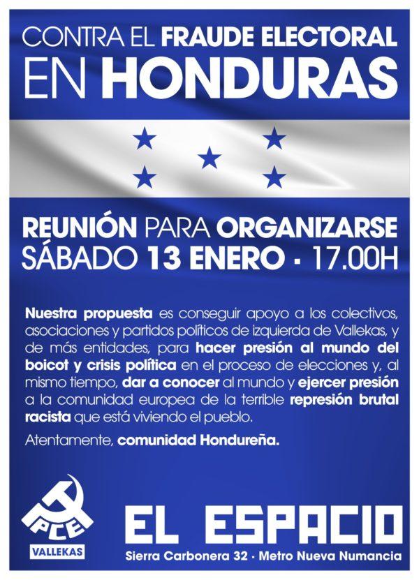 Reunión para organizarse contra el fraude electoral en Honduras