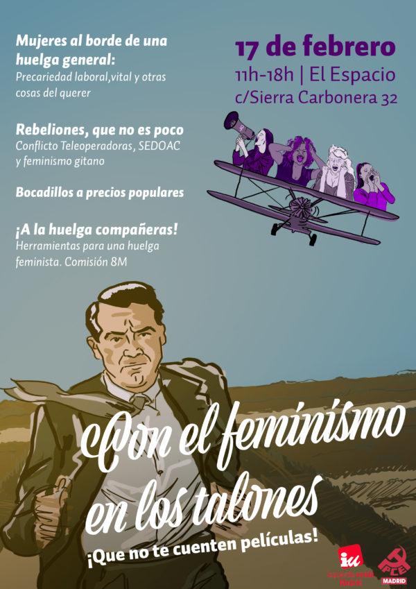 """Jornada feminista """"con el feminismo en los talones"""""""