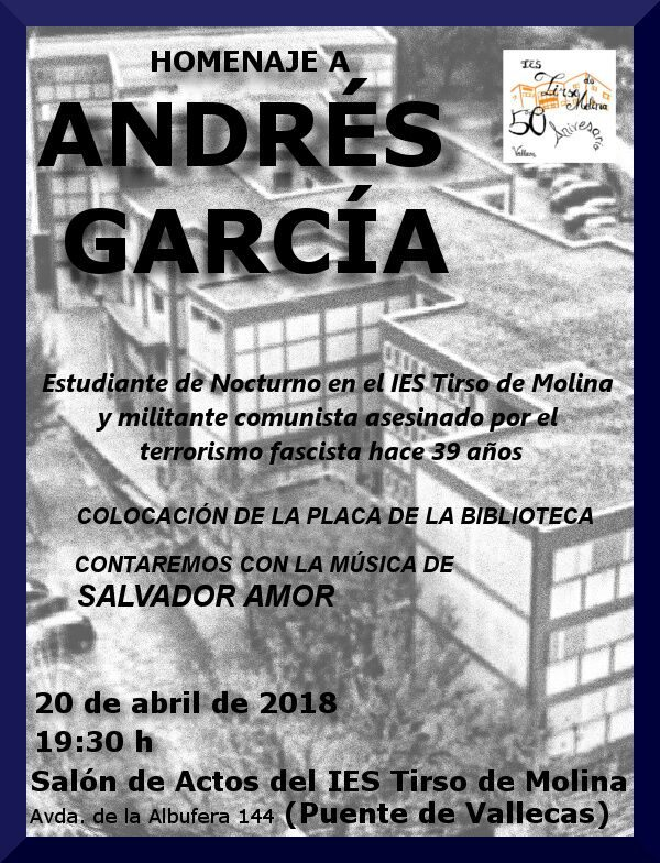 Homenaje a Andrés García