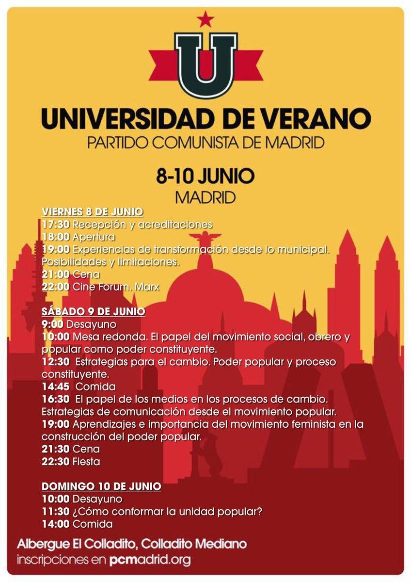 Universidad de Verano PCM