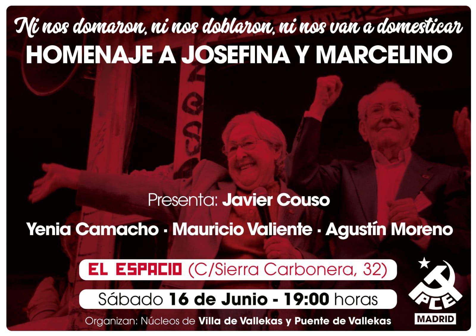 Homenaje a Marcelino Camacho y Josefina Samper