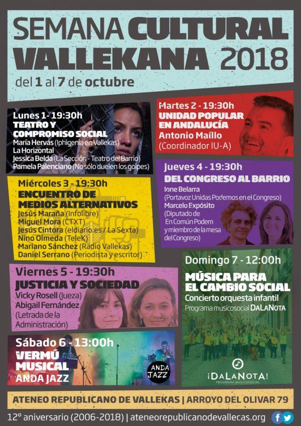 Semana Cultural Vallekana 2018